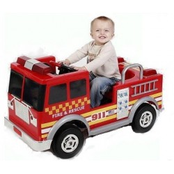 Kids Electric Fire Engine Truck