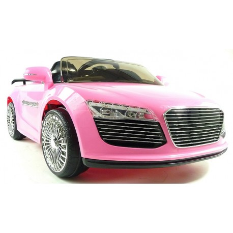 Girls Electric Audi Style Ride on Car with Remote - Pink