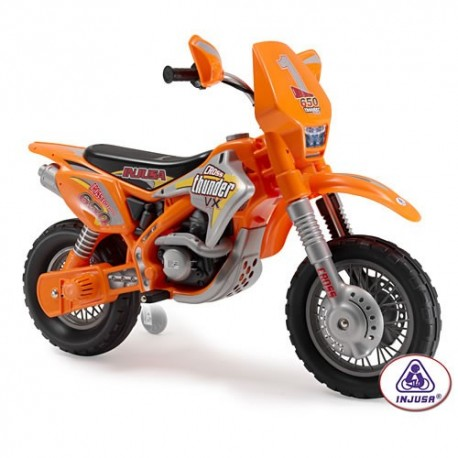 Injusa Kids Ride on Electric Moto X Scrambler Motor Bike - 12v