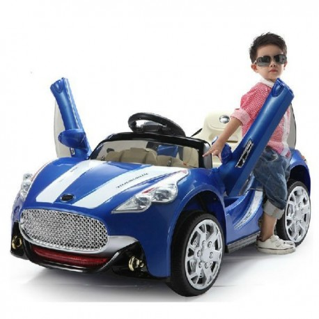 Maserati Style 12v Kids Electric Ride on Car with Remote - Blue