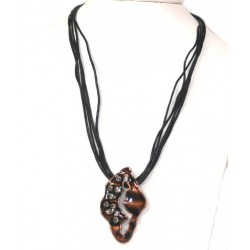 Back Rope Necklace with Pendante studded with Cubic Zirconia