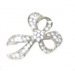 Silver Plated Diamante Brooche